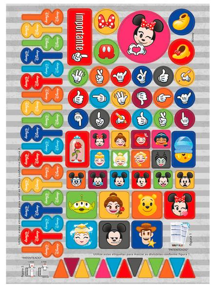 Caderno Espiral Capa Dura Universitário 1 Matéria Emoji Disney - Jandaia