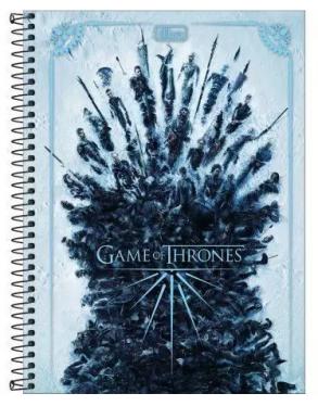 Caderno Espiral Capa Dura Universitário 1 Matéria Game Of Thrones - Tilibra