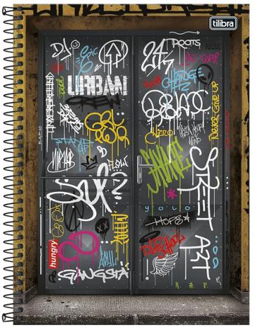 Caderno Espiral Capa Dura Universitário 1 Matéria Graffiti - Tilibra