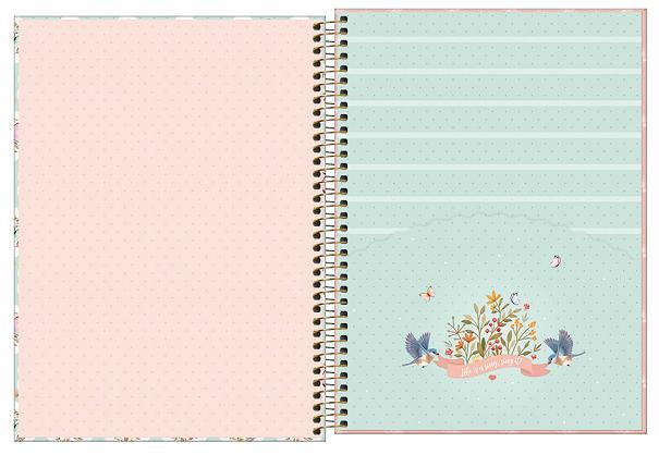 Caderno Espiral Capa Dura Universitário 1 Matéria Jolie Classic - Tilibra