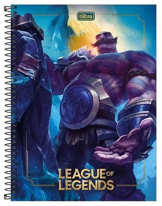Caderno Espiral Capa Dura Universitário 1 Matéria League of Legends - Tilibra