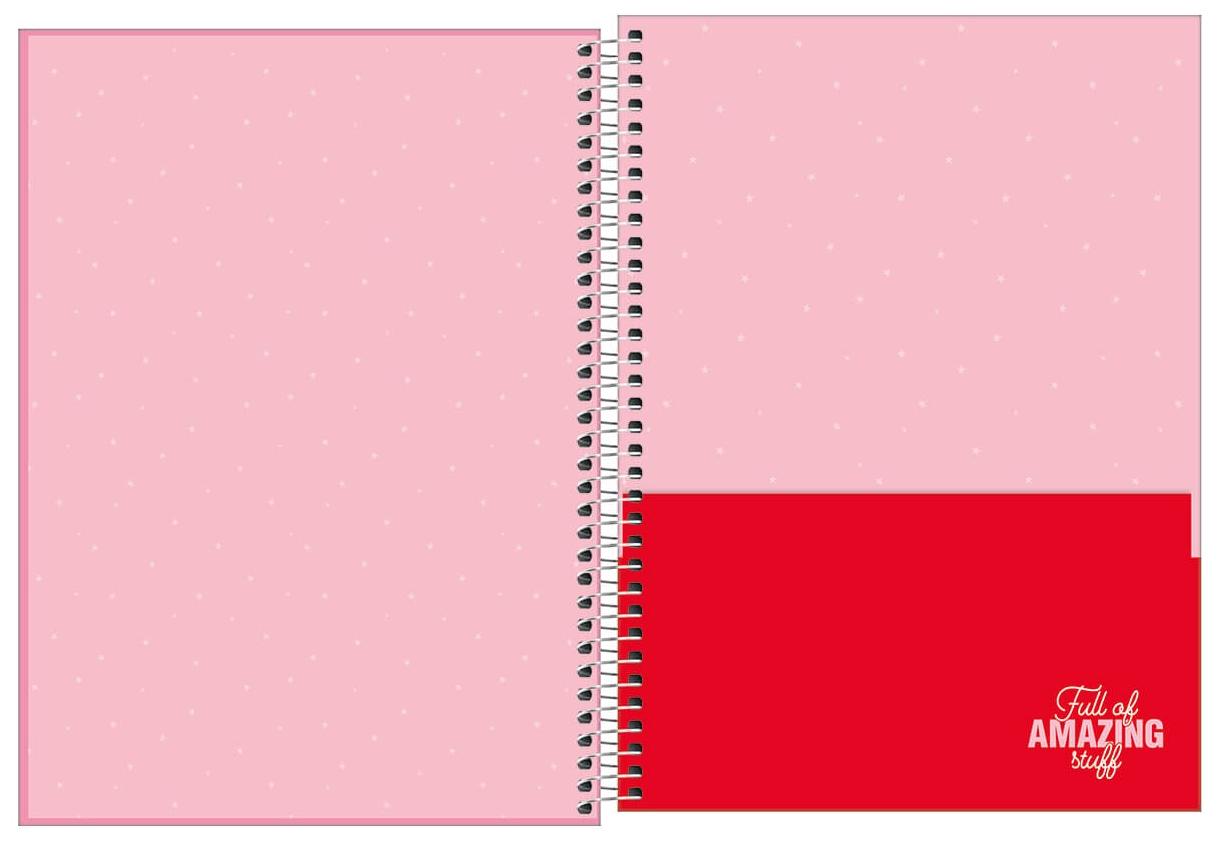 Caderno Espiral Capa Dura Universitário 1 Matéria Love Pink - Tilibra