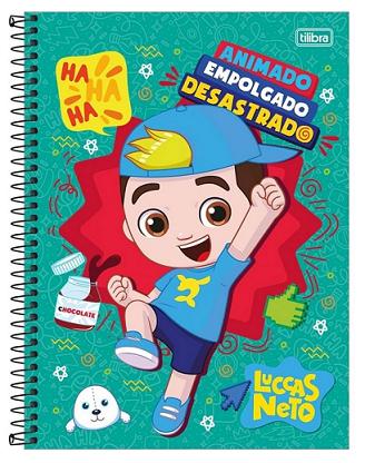 Caderno Espiral Capa Dura Universitário 1 Matéria Luccas Neto - Tilibra