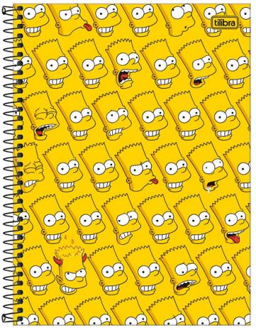 Caderno Espiral Capa Dura Universitário 1 Matéria Simpsons- Tilibra