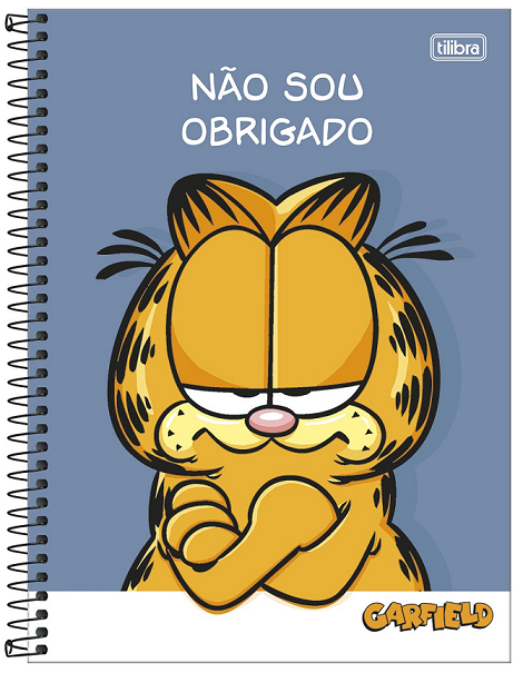 Caderno Espiral Capa Dura Universitário 1 Matéria Garfield - Tilibra