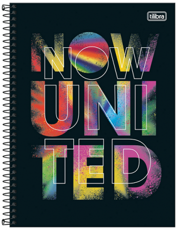Caderno Espiral Capa Dura Universitário 1 Matérias Now United - Tilibra