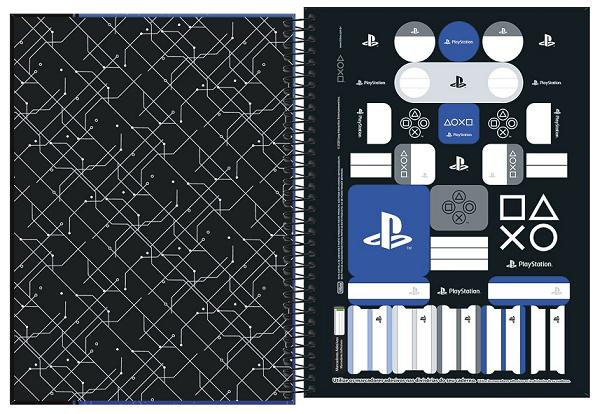 Caderno Espiral Capa Dura Universitário 1 Matéria Playstation - Tilibra