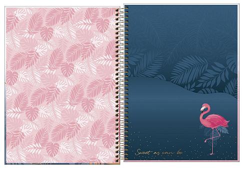 Caderno Espiral Capa Dura Universitário 20 Matérias Aloha - Tilibra