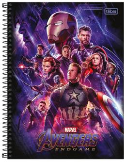 Caderno Espiral Capa Dura Universitário 20 Matérias Marvel Avengers Endgame - Tilibra