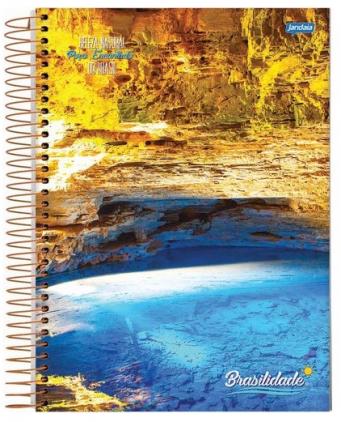 Caderno Espiral Capa Dura Universitário 20 Matérias Brasilidade - Jandaia