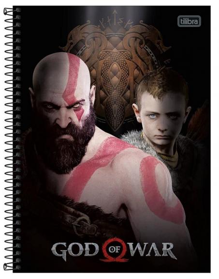 Caderno Espiral Capa Dura Universitário 20 Matérias God Of War - Tilibra