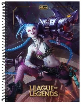 Caderno Espiral Capa Dura Universitário 20 Matérias League of Legends - Tilibra