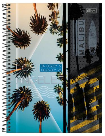 Caderno Espiral Capa Dura Universitário 20 Matérias Sunset - Tilibra