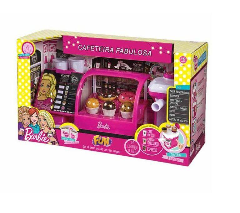Cafeteira Barbie Fabulosa - FUN - Loja Brinquedos - Há mais de 4 ... 6f3ee622c07