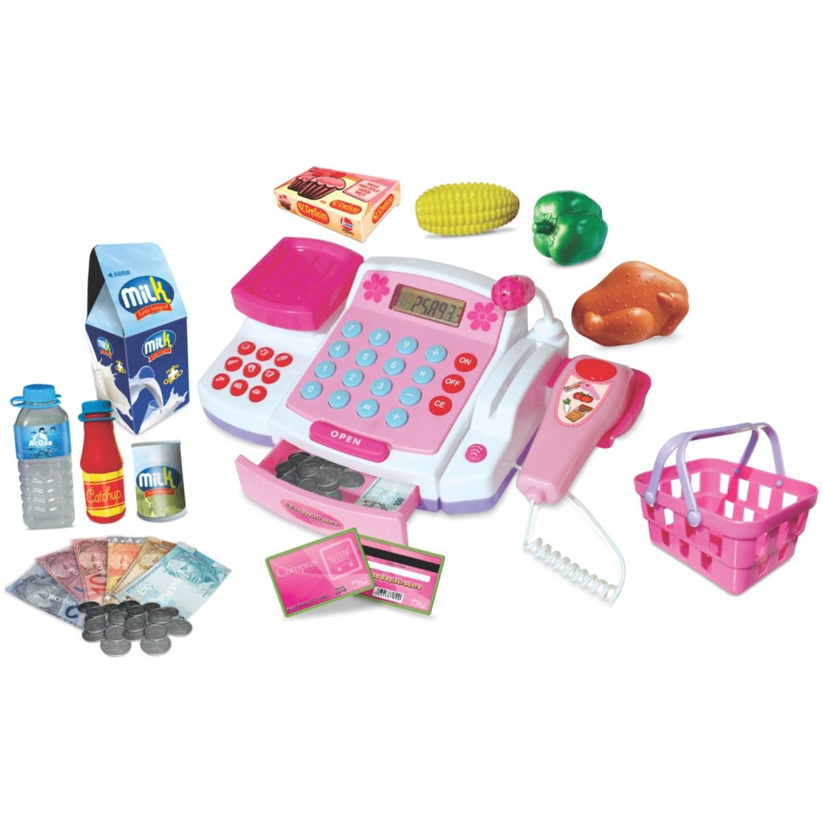 Caixa Registradora com Microfone - Lider Brinquedos