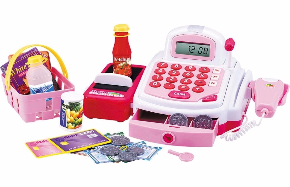 Caixa Registradora Hora das Compras Grande com Luz e Som - DM Toys
