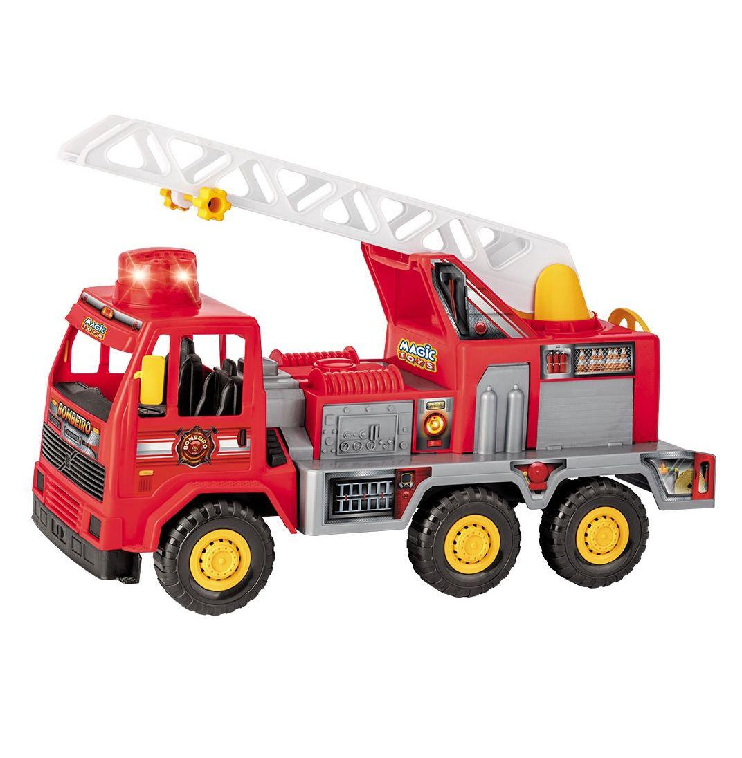 Caminhão Bombeiro Fire com Luz e Som - Magic Toys