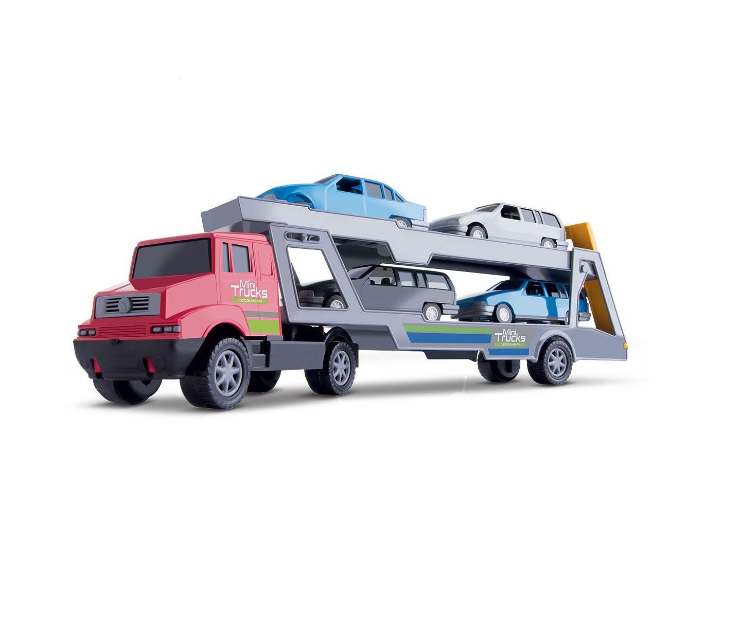 Caminhão Coleção Mini Trucks Cegonheira Sortidos - Samba Toys