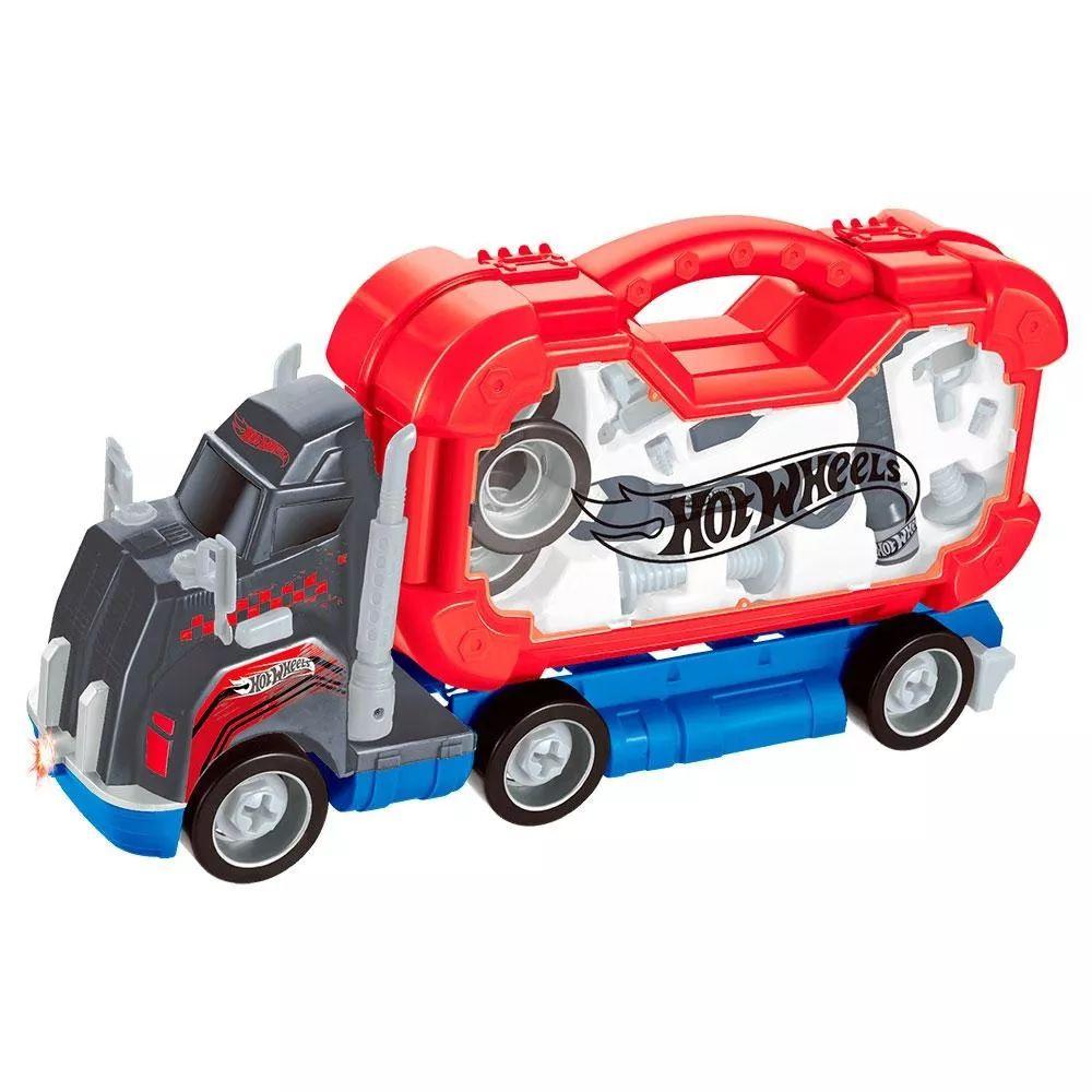 Caminhão de Ferramentas Hot Wheels com Luz e Som - FUN