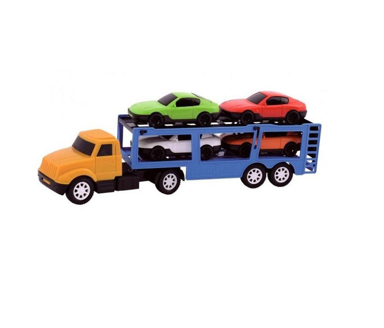 Caminhão Mini Transcegonha com 4 Carrinhos Sortidos - Diverplas