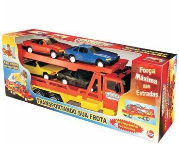 Caminhão Truck Cegonha com 4 Carrinhos - Líder Brinquedos