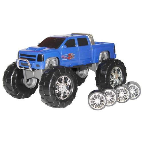Caminhonete 2 em 1 Double Car Power Road - Amarelo/ Azul/ Vermelho - Diver Toys