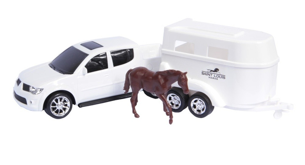 Caminhonete Pick-Up RX Haras com Cavalo - Roma Brinquedos