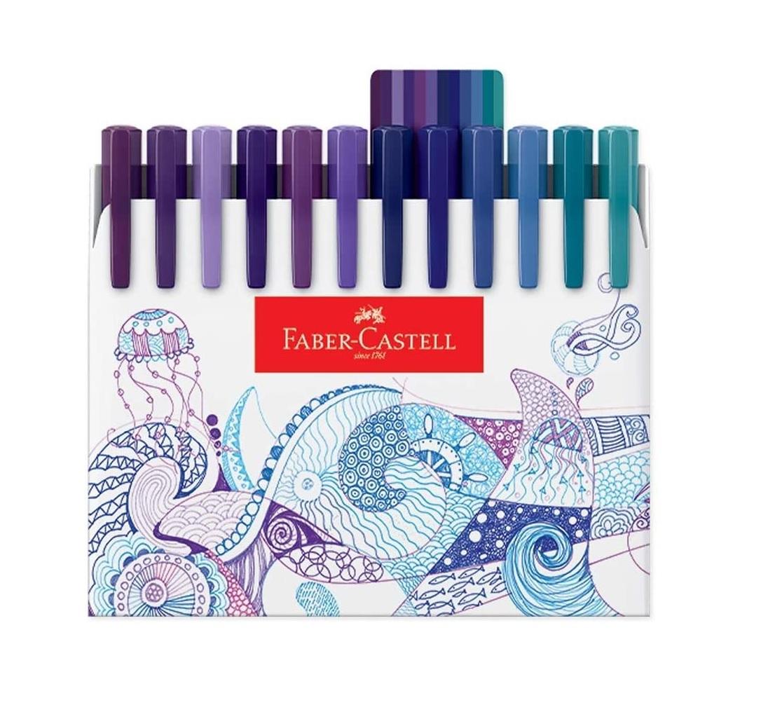 Caneta Ponta Porosa Fine Pen Colors 48 Cores - Faber Castell