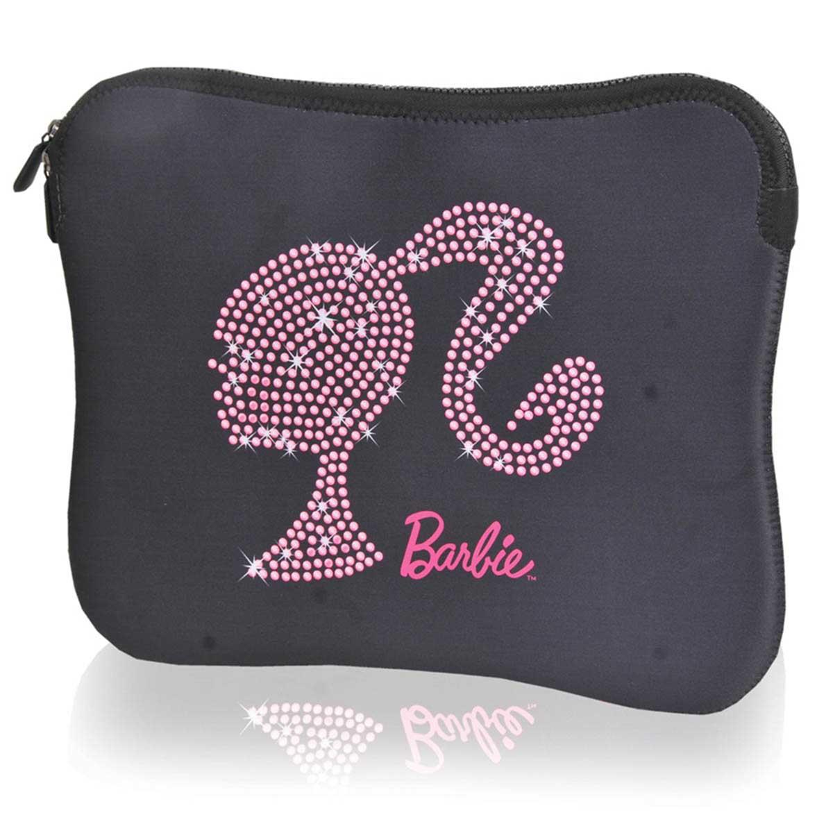 """Capa para Notebook 13"""" Barbie Em Neoprene Preta - Santino"""