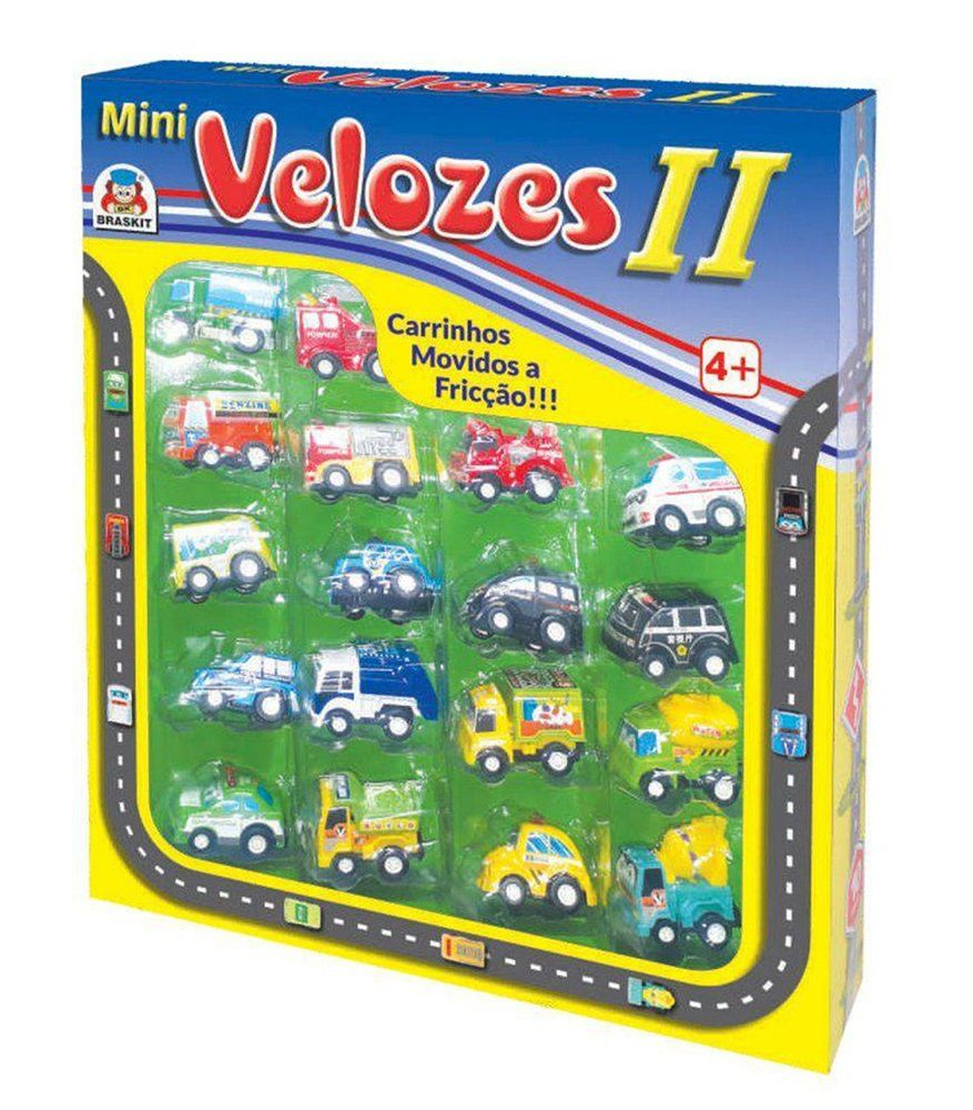 Carrinhos Fricção Mini Velozes II - Braskit
