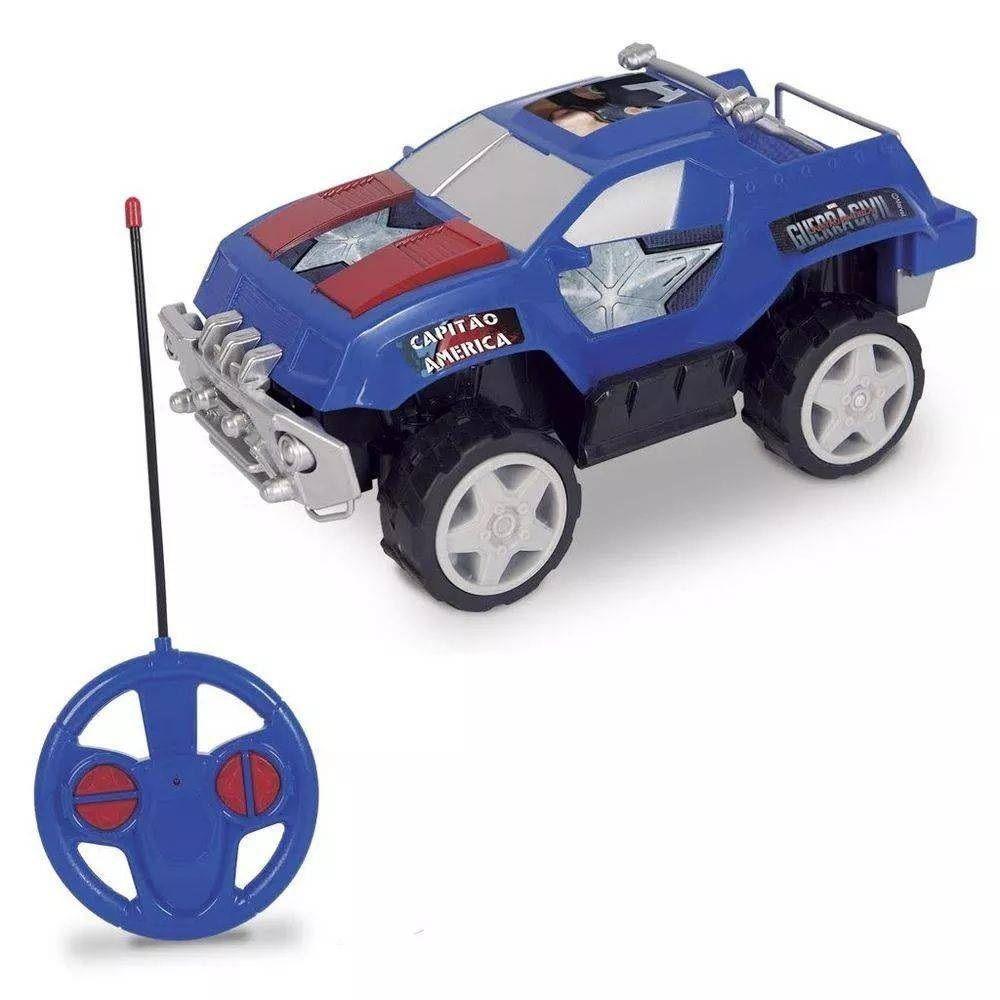 Carro Controle Remoto 7 Funções Marvel Avengers Capitão América - Mimo Brinquedos