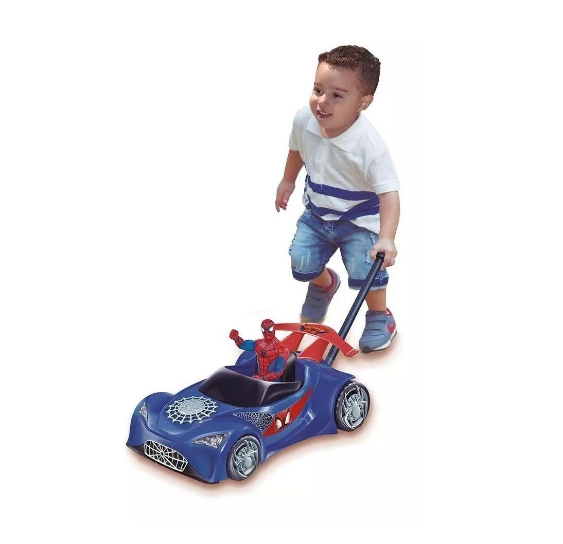 Carro de Empurrar Homem Aranha com Boneco - Lider Brinquedos