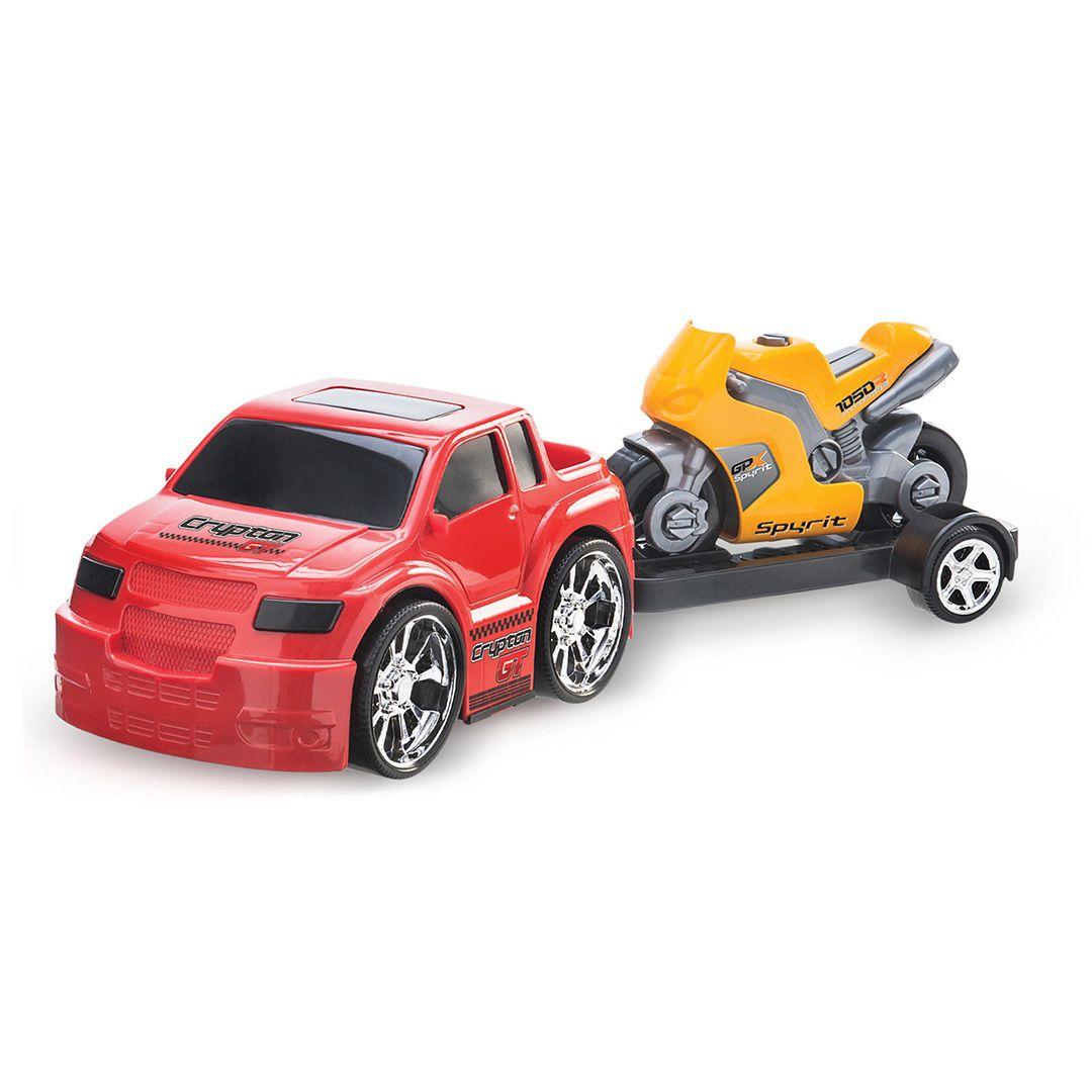 Carro Duplo X com Moto Esportiva Sortidos - Usual Brinquedos
