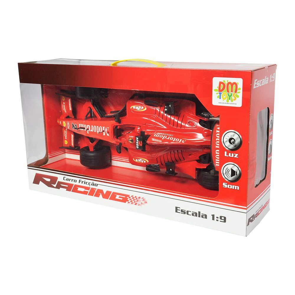 Carro Fricção Racing Escala 1:9 - Dm Toys