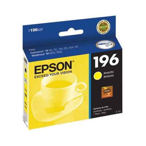 Cartucho de Tinta Epson 196 Amarelo Original - Epson