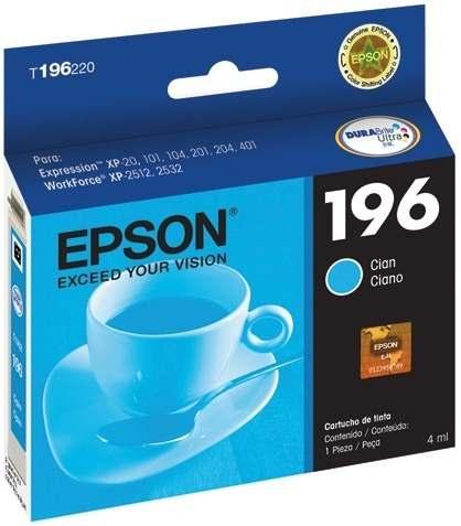 Cartucho de Tinta Epson 196 Ciano Original - Epson
