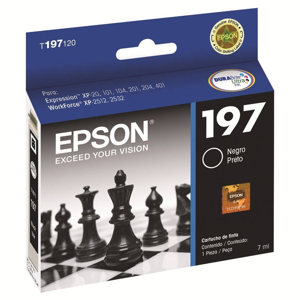 Cartucho de Tinta Epson 197 Preto Original - Epson