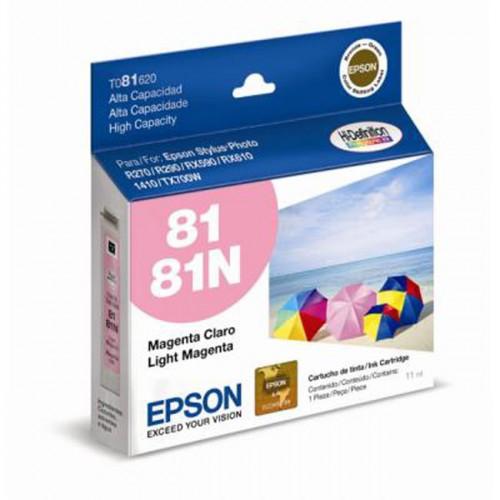 Cartucho de Tinta Epson 81N Magenta Light T081620 - R270 / R290 / RX590 / RX610 / T50 / TX700W / 1410 / 1430W
