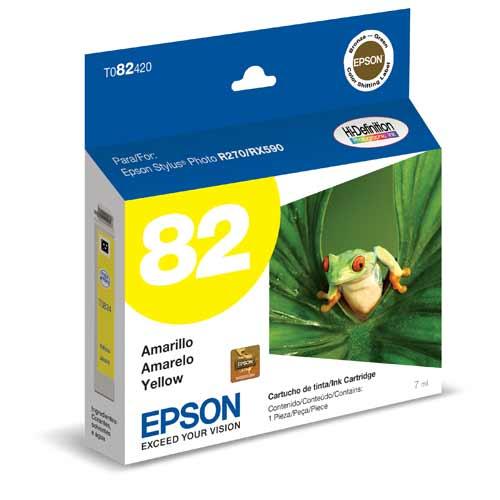 Cartucho de Tinta Epson 82N Yellow T082420 - R270 / R290 / RX590 / RX610 / T50 / TX700W / TX720WD / TX730WD