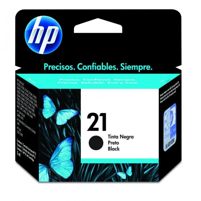 Cartucho de Tinta HP Original 21 Preto – HP