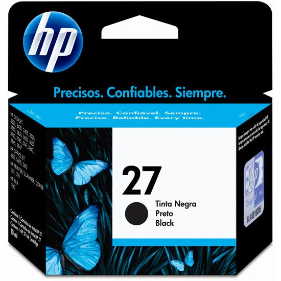 Cartucho de Tinta HP 27 Preto Original - HP
