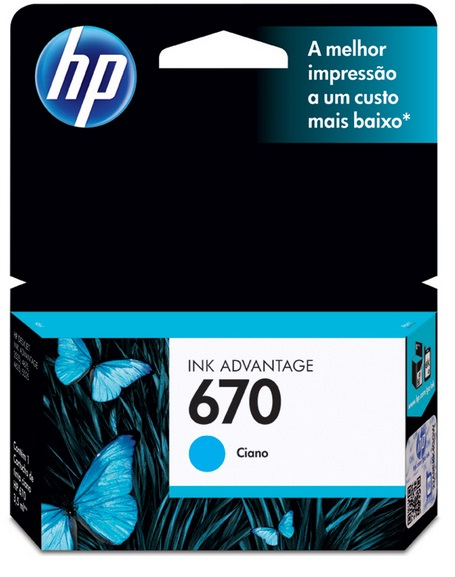 Cartucho HP Original 670 Ciano – HP
