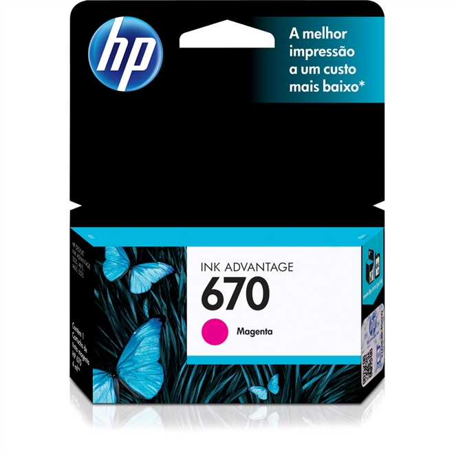 Cartucho HP Original 670 Magenta – HP