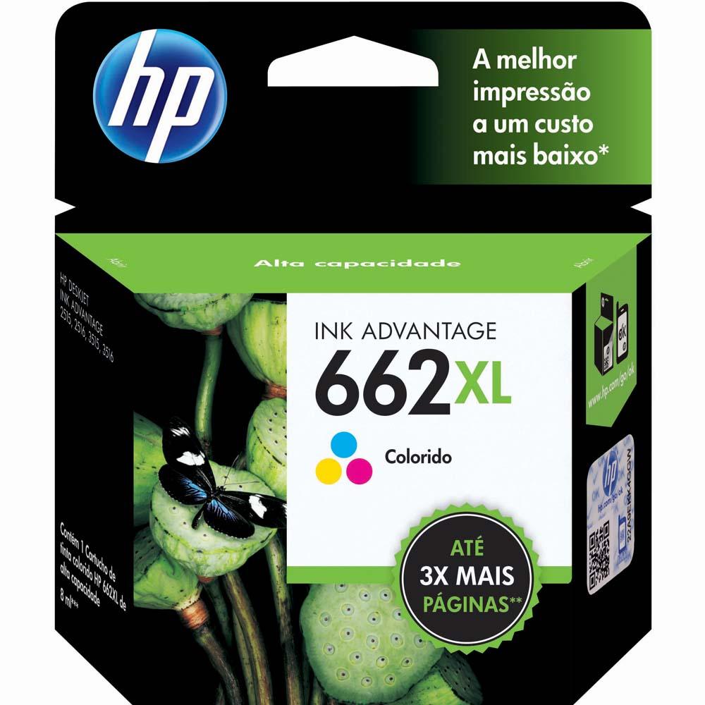 Cartucho de Tinta HP Original 662XL Colorido – HP