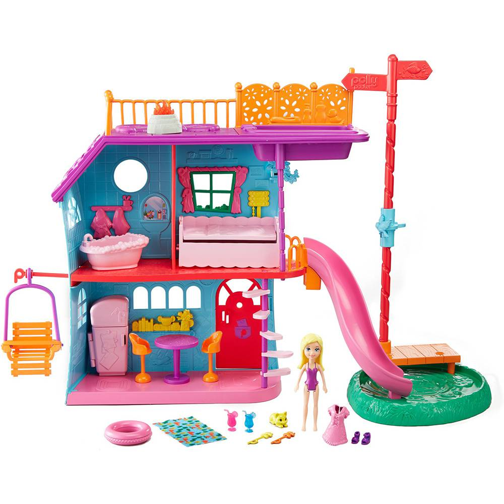 Boneca Polly Pocket Casa de Férias da Polly - Mattel