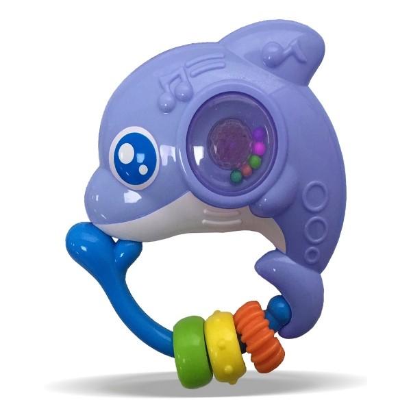 Chocalho Amiguinho do Mar Golfinho com Luz e Som - Zoop Toys