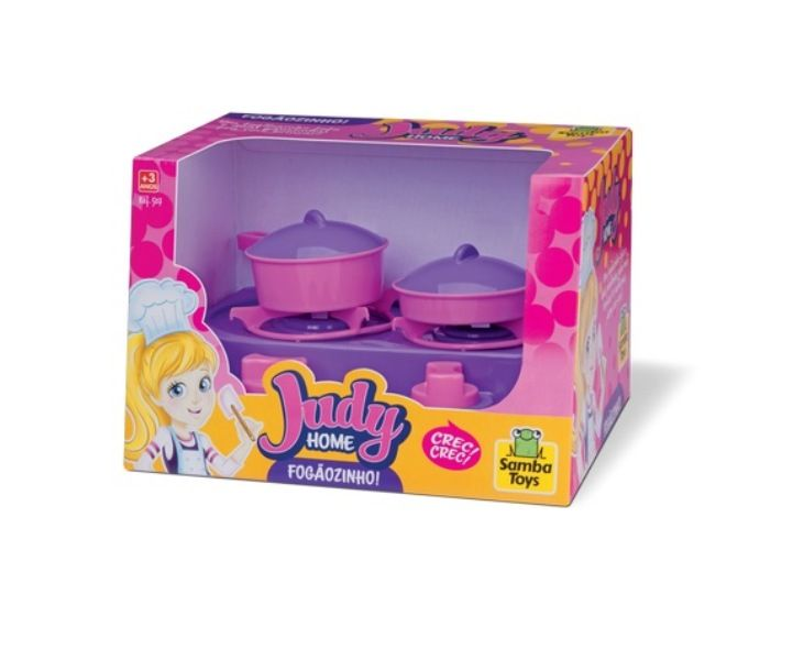 Coleção Judy Home Fogãozinho com Panelas - Samba Toys