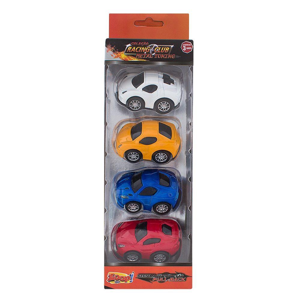 Coleção Racing Club Metal Tuning Sistema de Impulsão Pull-Back - Zoop Toys
