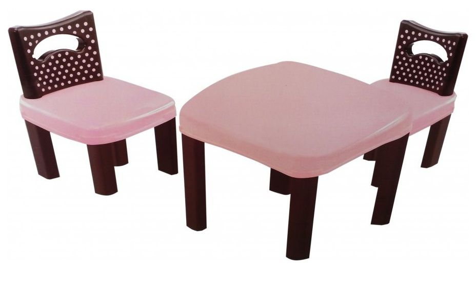 Conjunto de Mesa Poá com 02 Cadeiras - Simo Toys