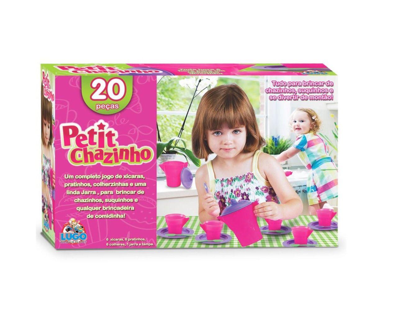 Conjunto de Xícaras Petit Chazinho com 20 Peças - Lugo Brinquedos